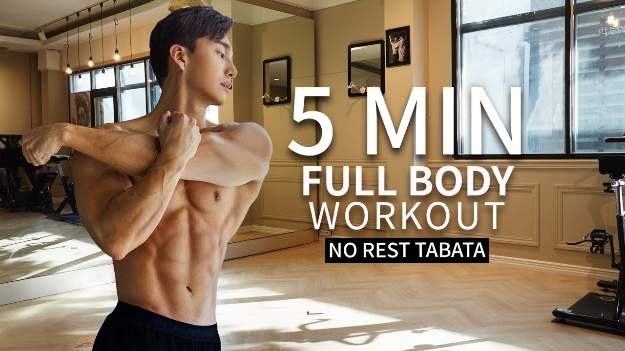 5 Minute Tabata, Full Body - No Gym Workout