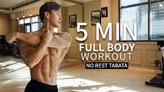 NO GYM FULL BODY WORKOUT (feat. 5 min Tabata)