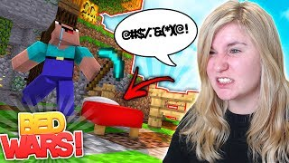 ULTIMATE RAGE QUIT! Minecraft BedWars | Little Kelly