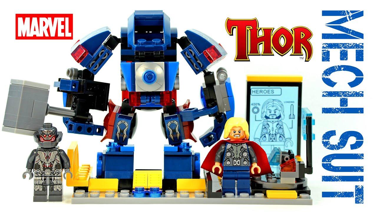LEGO Avengers Thor Mech Suit + Tony Stark Lab KnockOff Set ...