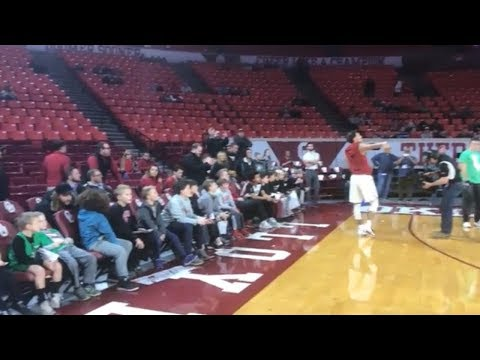 Trae Young draws a crowd for his warmup at Oklahoma | ESPN