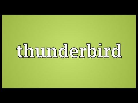 Thunderbird Meaning