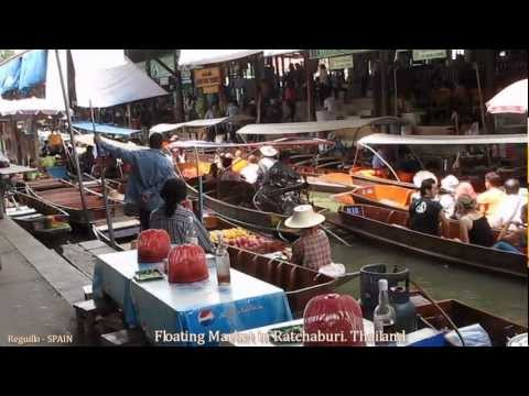 Floating Market in Ratchaburi, Canal Boat Ride- Thailand