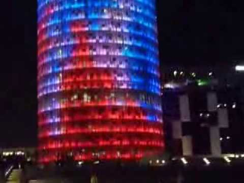 Torre Agbar - the 38 story office tower in Barcelona