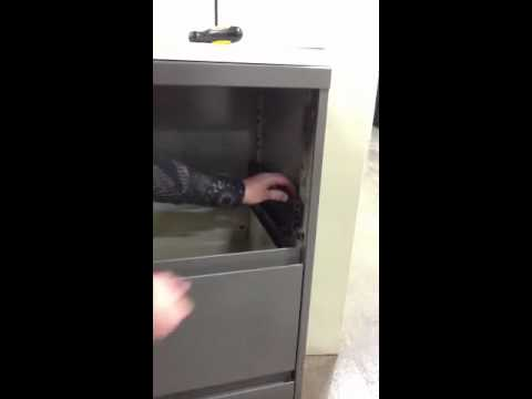 How to fix your Steelcase lateral file drawer - YouTube