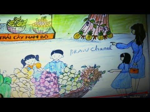 Vẽ Tranh Lễ Hội Trái Cây Nam Bộ Việt Nam/ How To Draw fruit festival in Vietnam