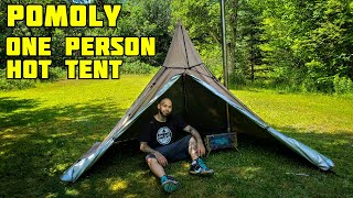 Solo tipi style hot tent from Pomoly