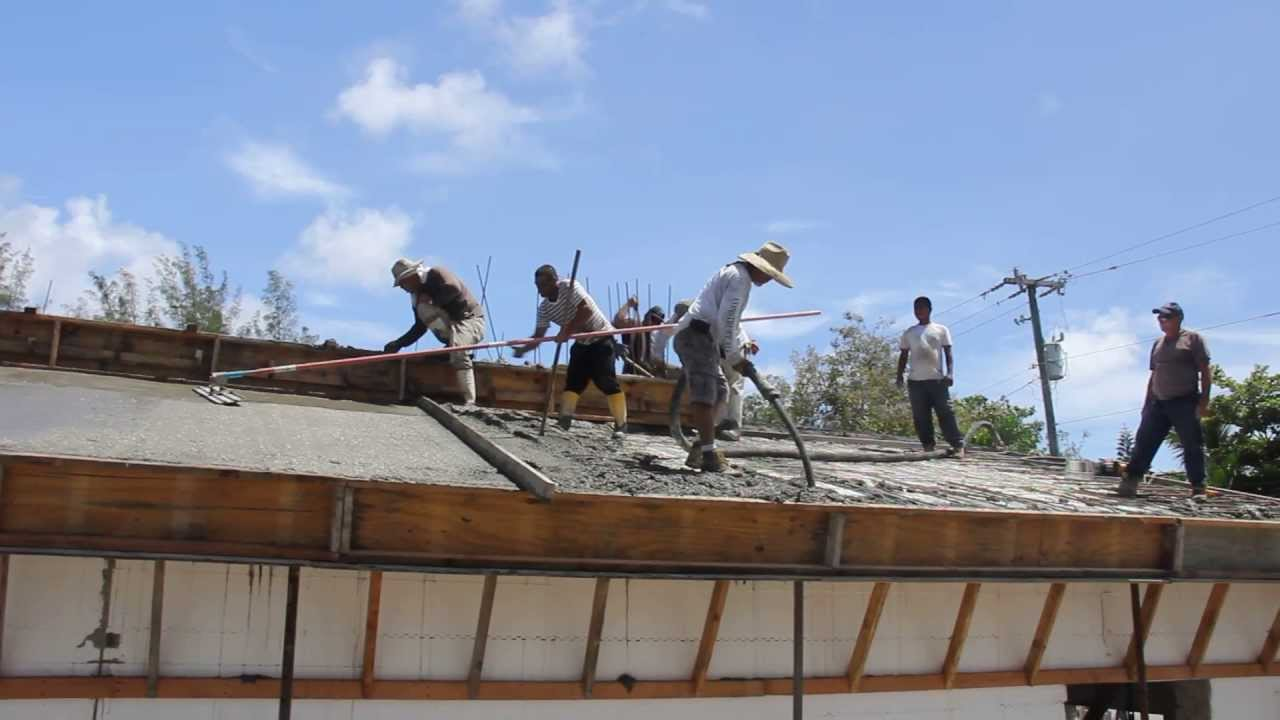 Icf roof construction youtube for Icf concrete roof