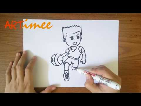 How To Draw A Basketball Player ( Step By Step )