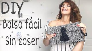 DIY Cómo hacer el BOLSO más FÁCIL del mundo sin coser / Low cost bag