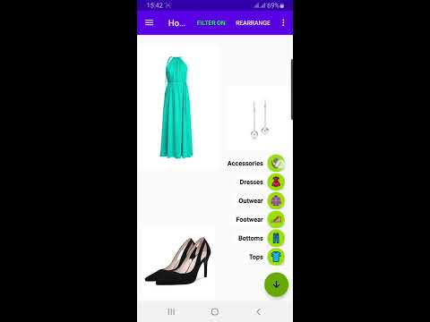 What to wear Today 🤔 My Clothes 👕 Android app - Demo usage video