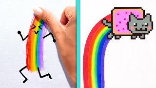 RAINBOW ART || Colorful Drawing Ideas To Boost Your Imagination