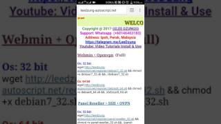 Autoscript setup  ssh and openvpn