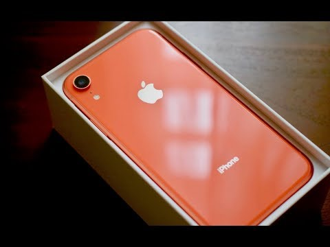 NEW iPhone XR CORAL UNBOXING (not a review)