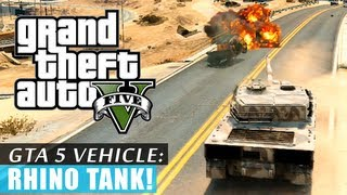 GTA 5: Rhino tank gameplay! HD