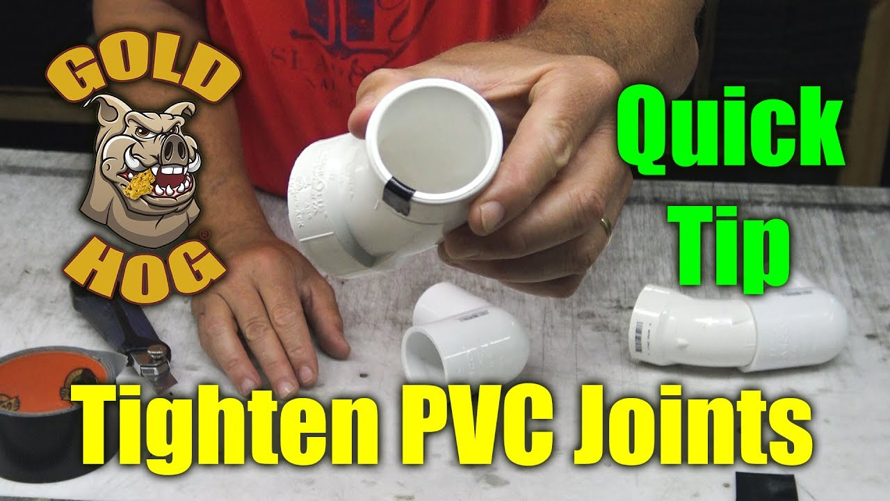 Pvc Joints Tighten Pvc Joints Without Glue