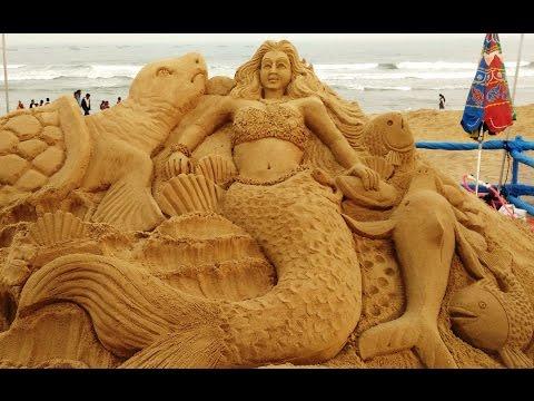 International Sand Art Festival 2016 at Odisha India - Part 1 - Save the Sea