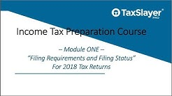 2018 Income Tax Course - Filing Status