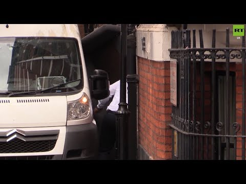 Assange: Furniture seen being removed from Ecuadorian embassy
