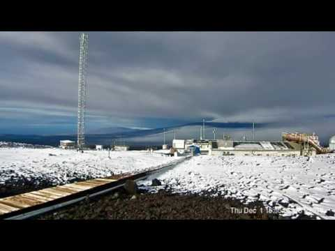 Timelapse of snow on Mauna Loa in Hawaii