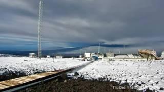 Timelapse of snow on Mauna Loa in Hawaii