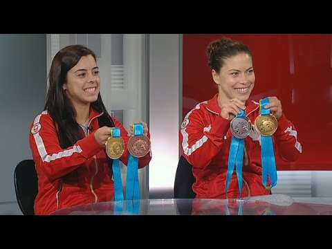 Canadian divers on winning Pan Am gold