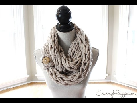 How to Needle Knit a Button Cuff, Beginner Tutorial with Simply Maggie -