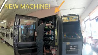 FILLING AND GETING MY NEW VENDING MACHINE!!!! ON LOCATION!