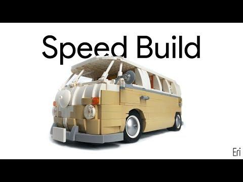 LEGO Volkswagen T1 Camper Speed Build (MOC)