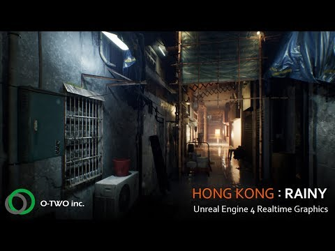 HONG KONG:Rainy | 4K Unreal Engine 4 Realtime Graphics