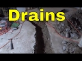 Trench For Bathroom Drains-Construction Rough In-DIY