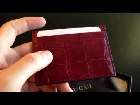 Unboxing and Review of Gucci Alligator Card Case