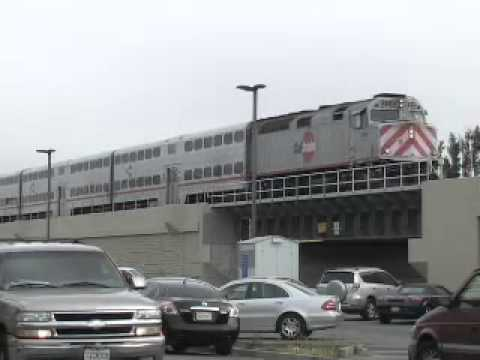 1st Train on Grade Separation in San Bruno