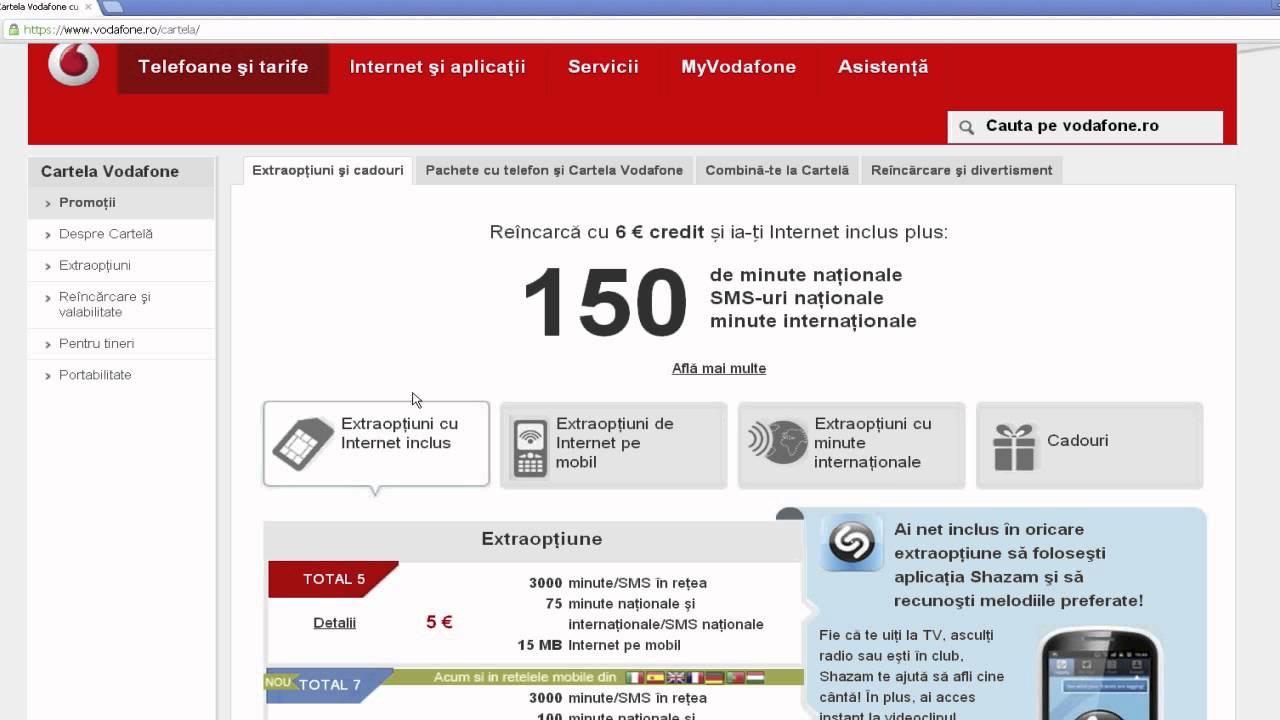 Cumpara credit vodafone online