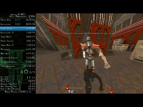 Quake II - Any% (Nightmare) speedrun in 0:23:26 (time without loads)