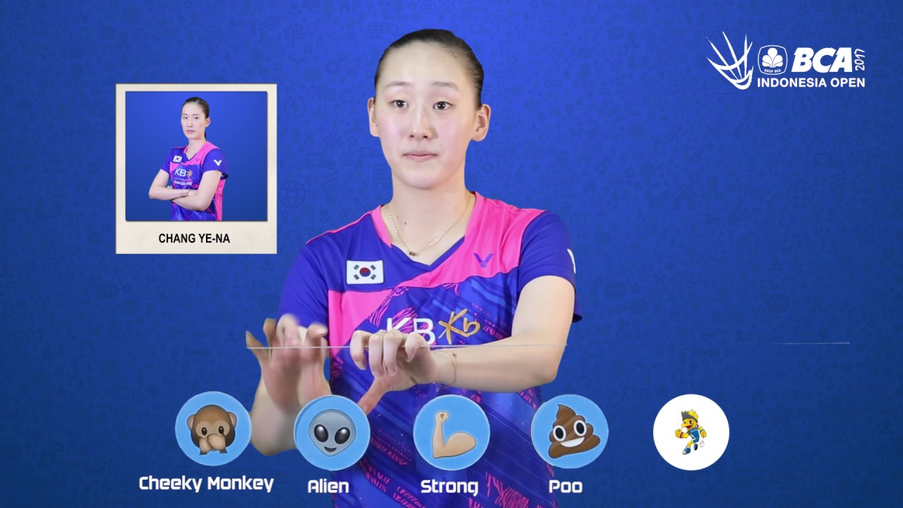 Lee So Hee Emoji Players at BCA Indonesia Open 2017