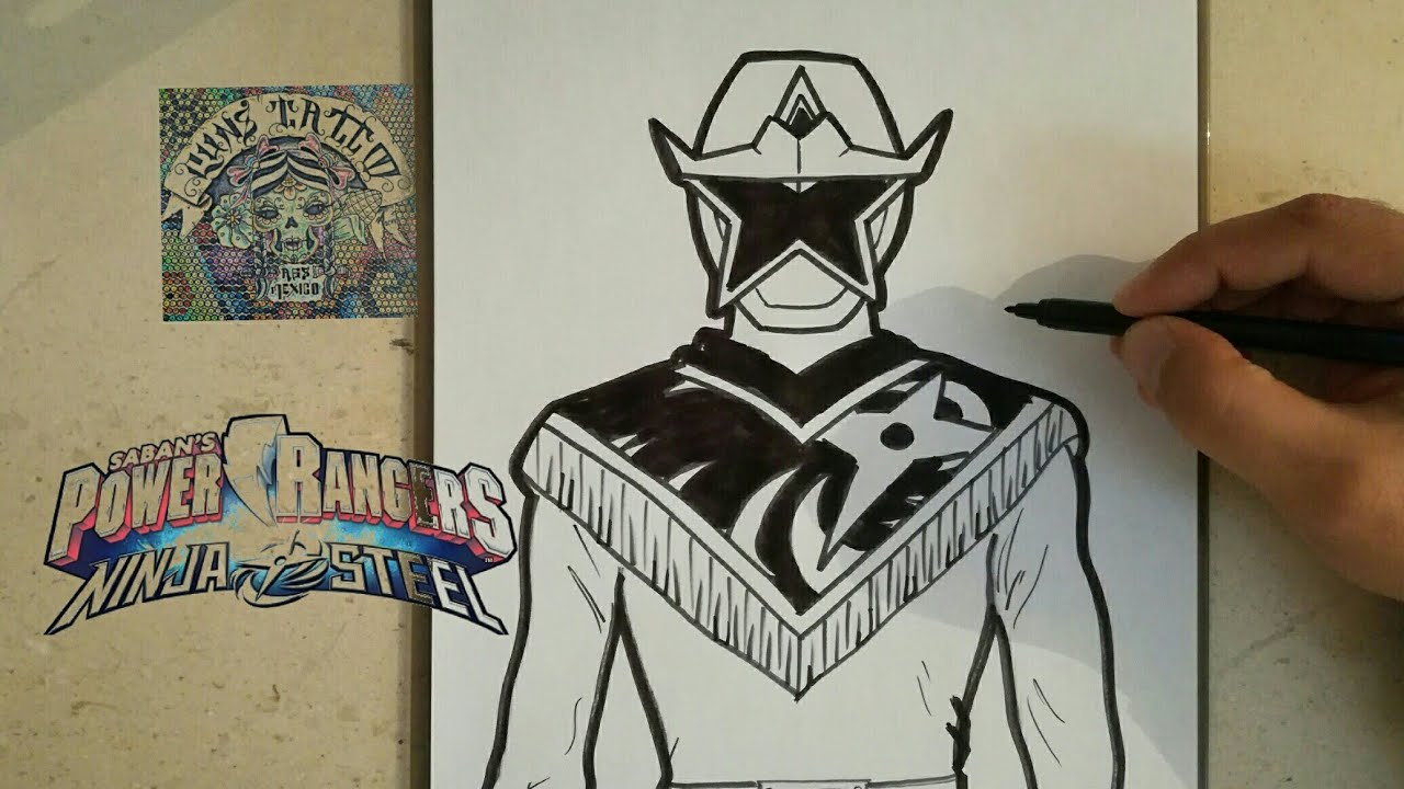 How To Draw Power Ranger Ninja Steel Gold Como Dibujar Power