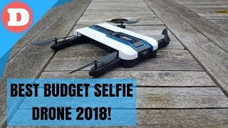 Best Budget Selfie Drone 2018! - JJRC H61 Optical Flow Selfie Drone Review