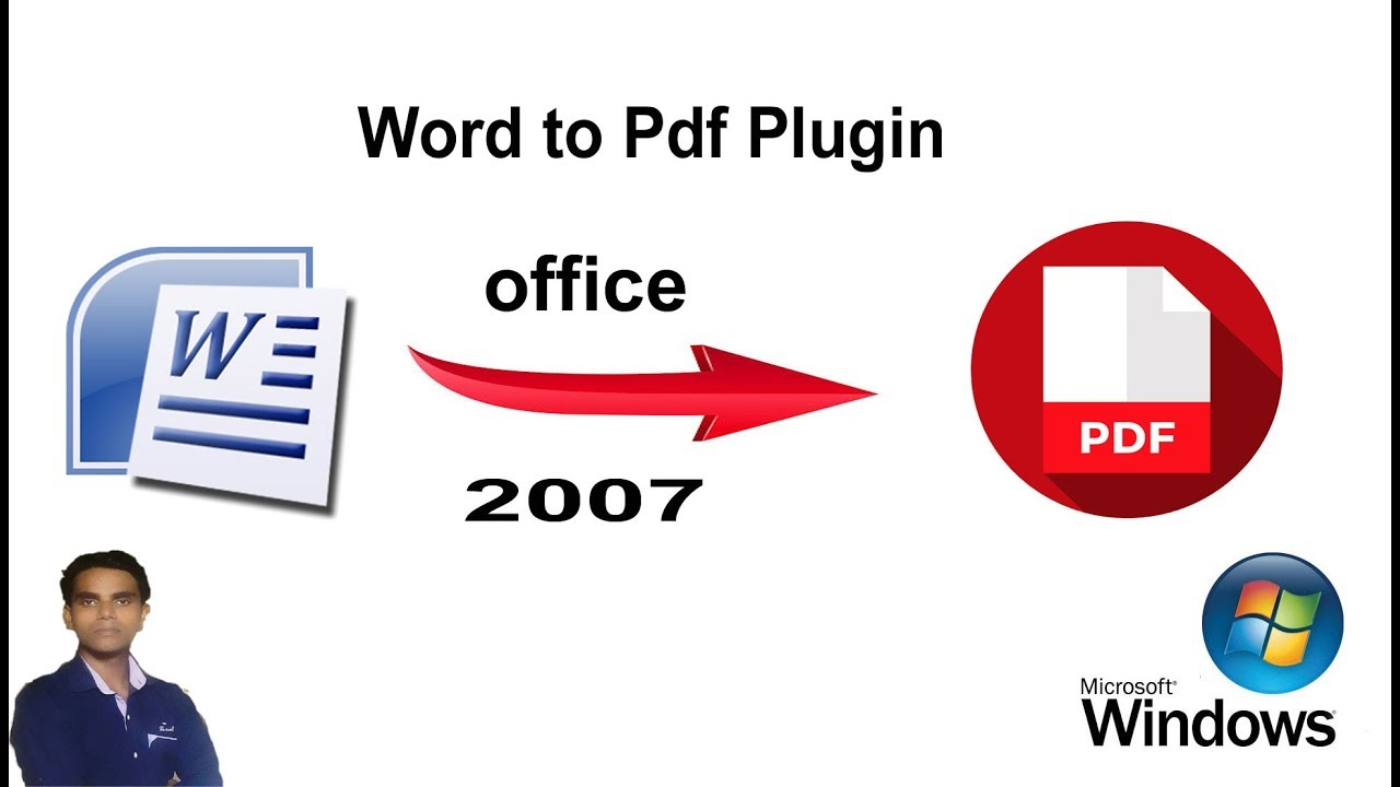 How to Add Pdf Plugin In Microsoft office world 2007,convert office file to  Pdf format, In hindi