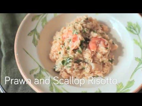 Seafood recipe – Prawn and Scallop Risotto