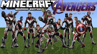 AVENGERS ENDGAME In Minecraft PE (Every Character! Use INFINITY STONES)
