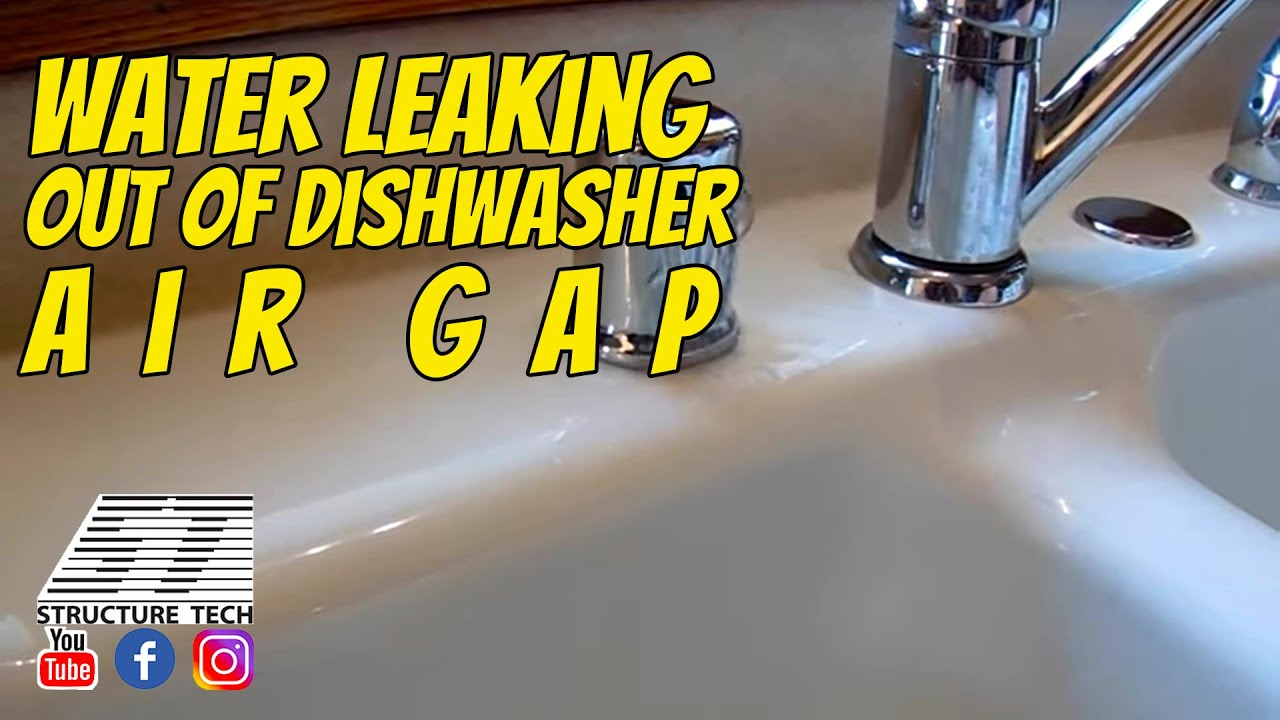 Water Leaking Out Of Dishwasher Air Gap During A St. Louis Park Home  Inspection