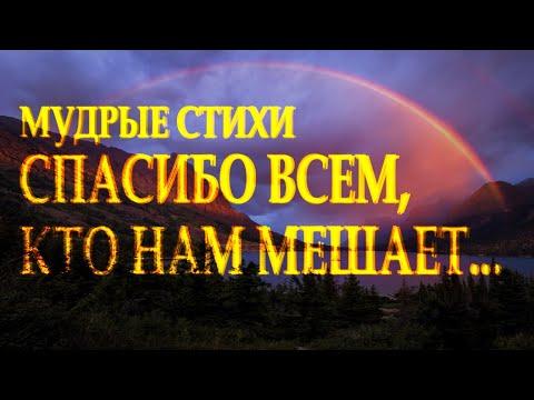 """Сильный стих """"Спасибо всем кто нам мешает"""" Наталья Дроздова Читает Леонид Юдин"""