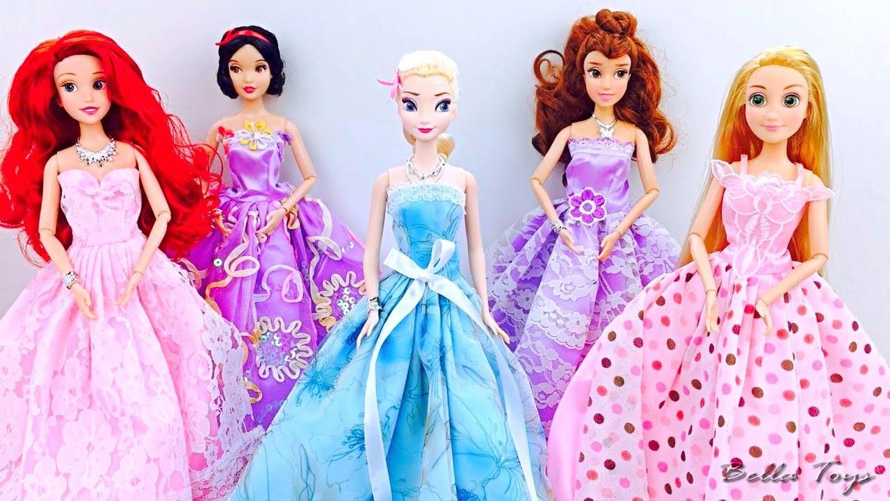 Robes de princesse poup e barbie elsa raiponce blanc comme - Barbie princesse des neiges ...