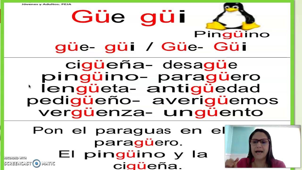 Palabras Con Gue Gui Youtube
