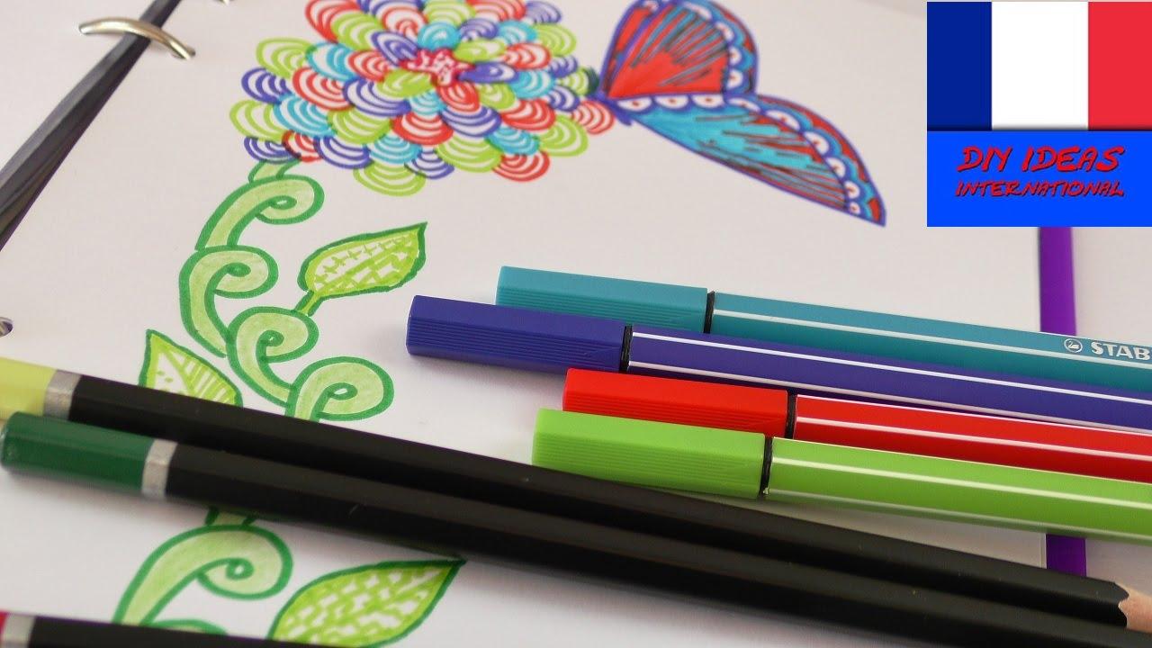 Colorier Et Dessiner Au Printemps Dessiner Dans Le Filofax