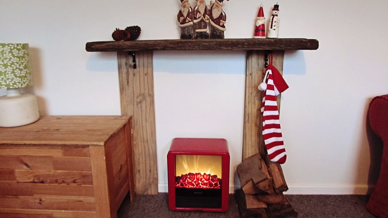 diy christmas fireplace youtube