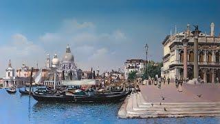 Уроки живописи. Венеция.  Окончание копии картины.  Часть 10