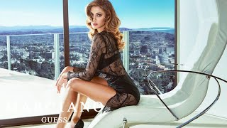 Argentine bombshell, belén rodríguez returns for the marciano fall '16 collection alongside brazilian heart-throb bruno santos. photographed by acclaimed ita...