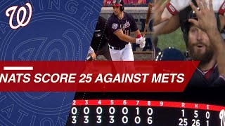 Nationals erupt for 25 runs against the Mets